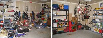 De-clutter your garage, attic and basement