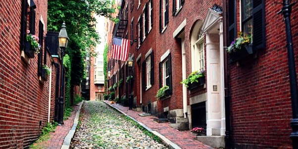 Acorn Street Beacon Hill Cobblestones