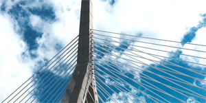 Zakim Bridge Blue Sky