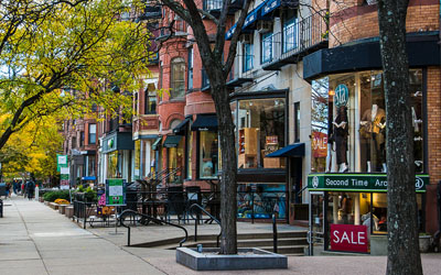 Newbury Street Businesses and Restaurants
